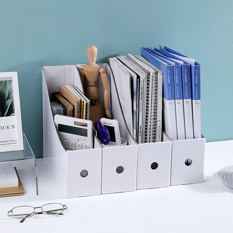1/3/5PCS Paper File Folder Storage Box Office Supplies Shelf Shelves Student Desktop Bookshelf Book Stand