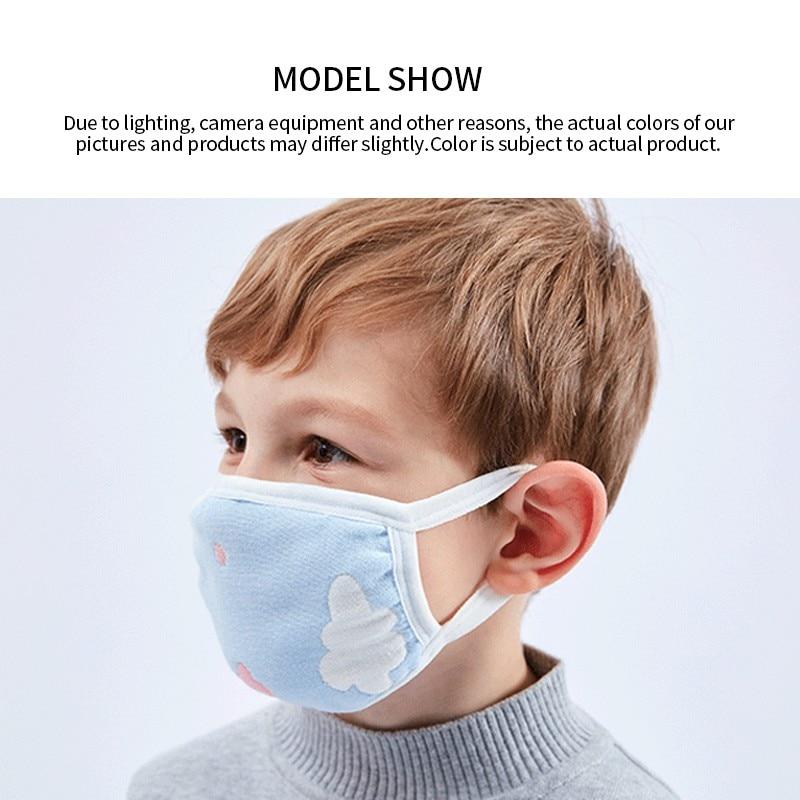 Cartoon Children PM2.5 Mouth Mask Kids Breath Valve Anti Haze Breathable Mask Anti Dust Respirator Face Masks