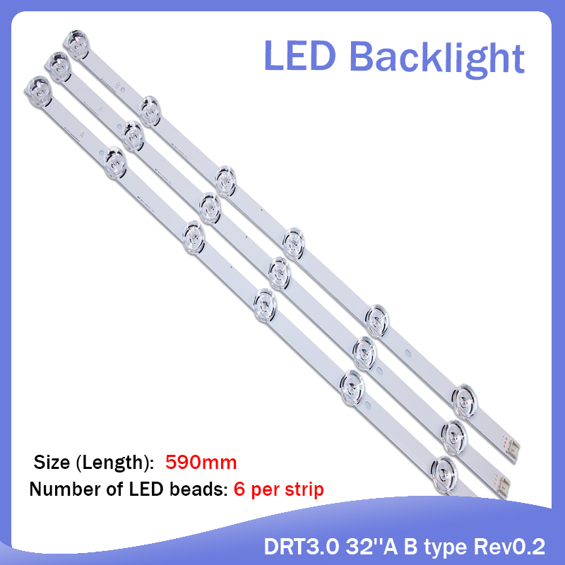 100%new 590mm LED Backlight 6LEDs For LG Innotek Drt 3.0 32