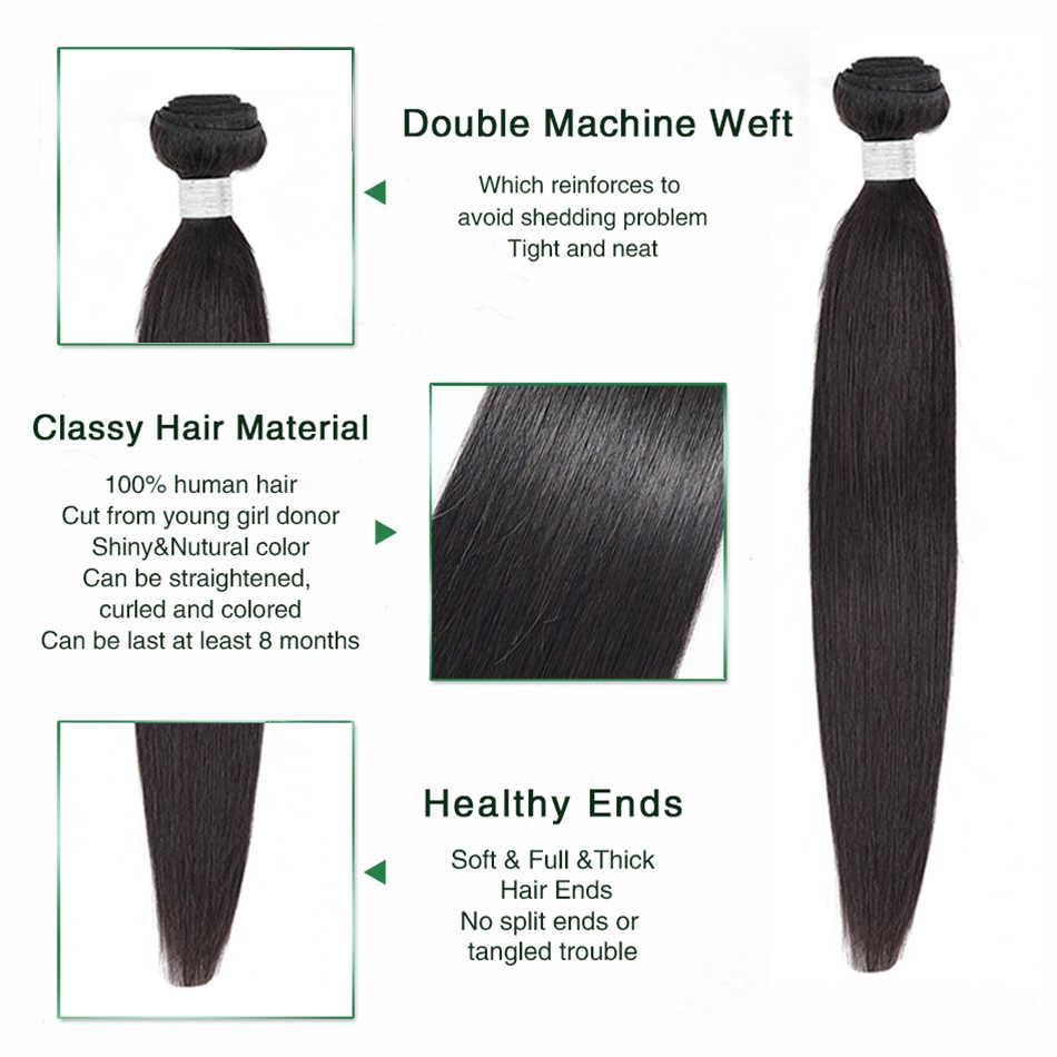 Aisha kraliçe saç brezilyalı düz insan saçı 1 parça saç örgü demetleri 8-30 inç doğal renk ücretsiz kargo olmayan Remy saç