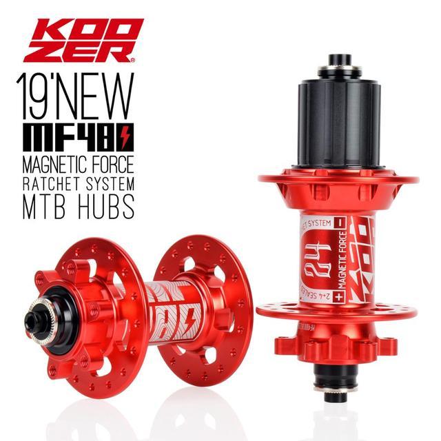 Koozer MF480 フロントリアハブセット 2/4 ベアリング 24tラチェット 32 穴クイックリリース車軸マウンテンバイクハブのための 8 9 10 11s