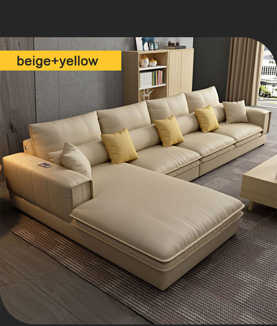 Modern Living Room Sofa L Shaped 6