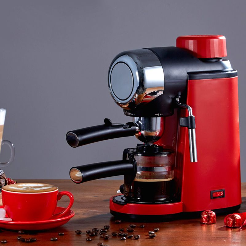 Semi-automatic Hand Cranked Espresso Machine 5 Bar Stainless Steel Coffee Maker For Home Office Cafe Use