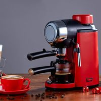 Semi automatic Hand Cranked Espresso Machine 5 Bar Stainless Steel Coffee Maker for Home Office Cafe Use