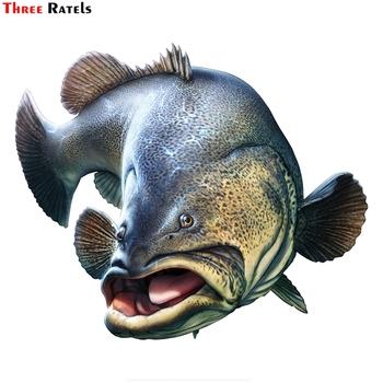 Three Ratels FTC-891 #16cm x 13 4cm wodoodporny Pvc gruba ryba osobowość zwierząt rybki PVC samochodu stylizacji samochodów motocykli naklejka naklejka tanie i dobre opinie Samoprzylepne Nieprzezroczyste Szkło filmy Dekoracyjne