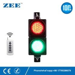 Mando a distancia inalámbrico, 4 pulgadas, 100mm, luz LED de tráfico, rojo, verde, luz de tráfico, estacionamiento, señal de entrada