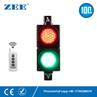Remote control wireless control 4 inches 100mm LED Traffic Light Red Green Traffic Signal Light Parking Lot Signal Entrance