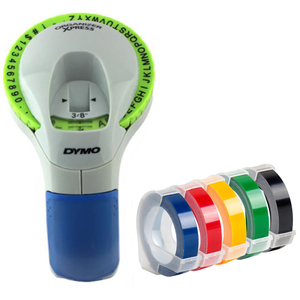 Image 1 - Dymo 12965 수동 라벨 프린터 dymo 1610 1540 motex c101 dymo organizer xpress 라벨 제조업체 용 9mm 3d 엠보싱 테이프