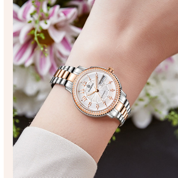 STARKING Women Mechanical Watch Miyota Movt Stainless Steel Wristwatch Sapphire Automatic Self-wind Bracelet Relogios Femininos 5