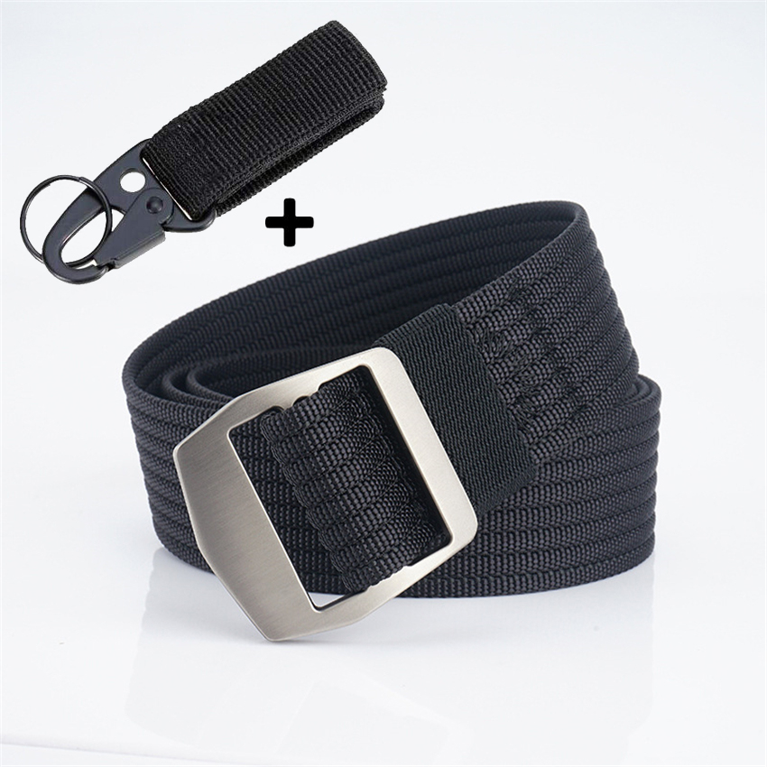 Men's Canvas Casual Belts Alloy Buckle Wearable Nylon Tactical Belt For Jeans Pants Male Comfortable Work Belts Adjustable New