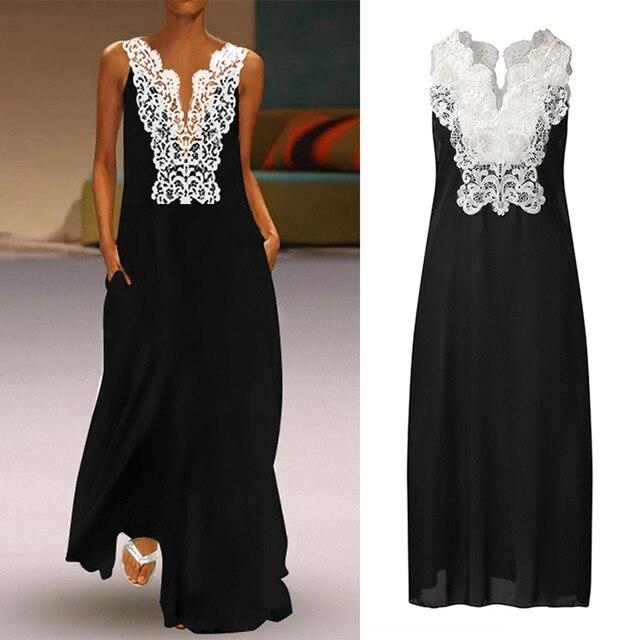 Beautiful Lace top full-length open shoulder dress 1