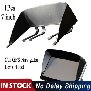 1Pc Black 7 Inch Car GPS Navigator Lens Hood Sunshade Visor Hood Block Universal Auto Sun Shade GPS Screen Protector Accessories(China)