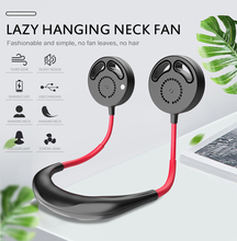 New USB Rechargeable Wearable Portable Hand Free Neckband Fan Personal Mini Neck Double Fans 3 Speed Adjustable for Home Office usb rechargeable wearable portable hand free neckband fan personal mini neck double fans 3 speed adjustable for home office