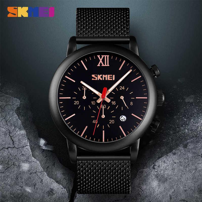 Skmei relógios masculinos da marca superior 3bar à prova dwaterproof água masculino quartzo relógio de pulso cronômetro reloj hombre montre homme 9203