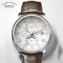 BORMAN mens automatic watch brand luxury self wind mechanica
