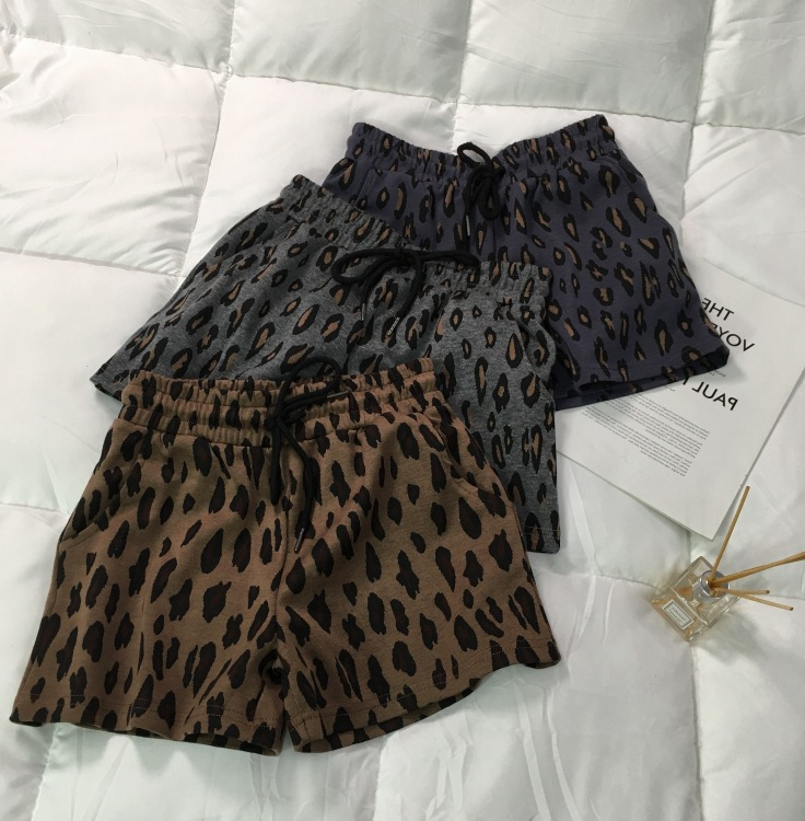 2020 Fashion 3-8Y Kids Girls Shorts Summer New Leopard Drawstring Bottom Toddler Children Shorts