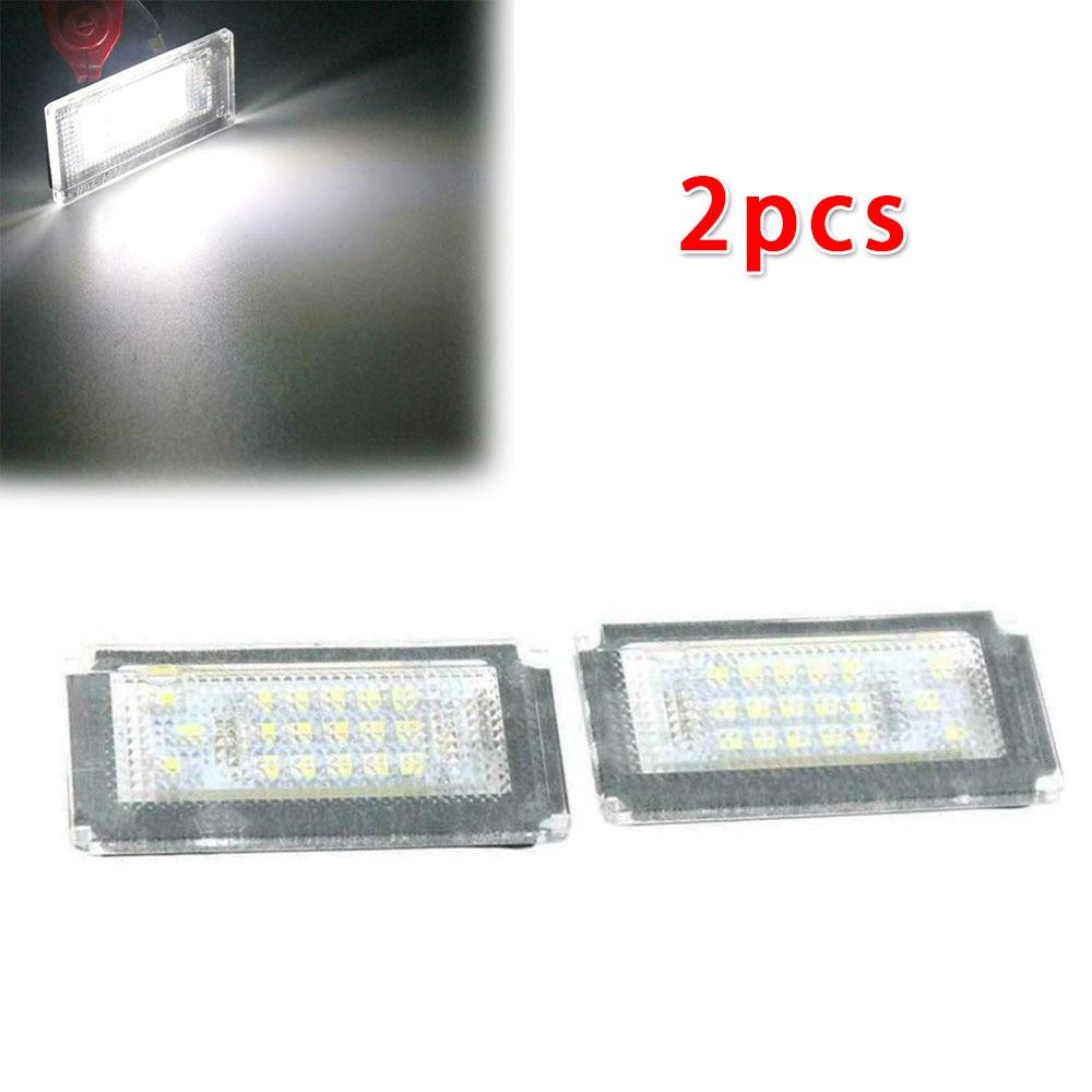 2PCS Car 18 SMD LED License Plate Light Lamp For BMW Mini Cooper S R50 2001-2006 R52 2004-2008 R53 2001-2006