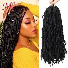 Braids Hair Hair-Extensions Dreadlocks Crochet Curly Wavy Faux Locs Goddess Synthetic