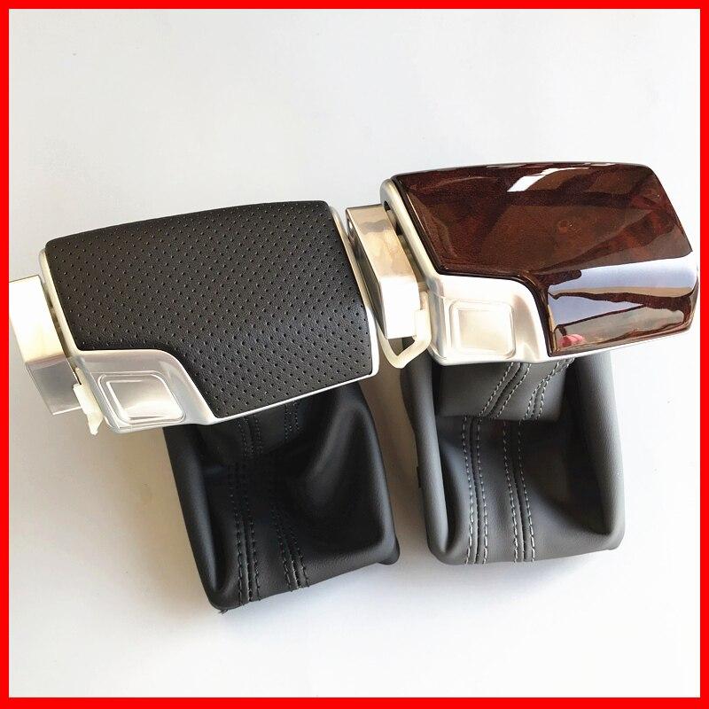Автомобильная кожаная Хромированная ручка переключения передач для AUDI A6 A7 A3 A4 A5 A6 c6 Q7 Q5 2009 2010 2011 2012 4G1 2014 713 R