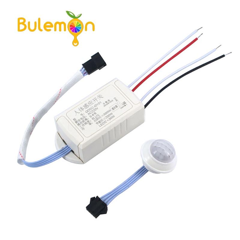 Switch 220V IR Infrared Module Body Sensor Intelligent Light Lamp Motion Sensing Switch Adjustable Movement Sensing PIR Switch