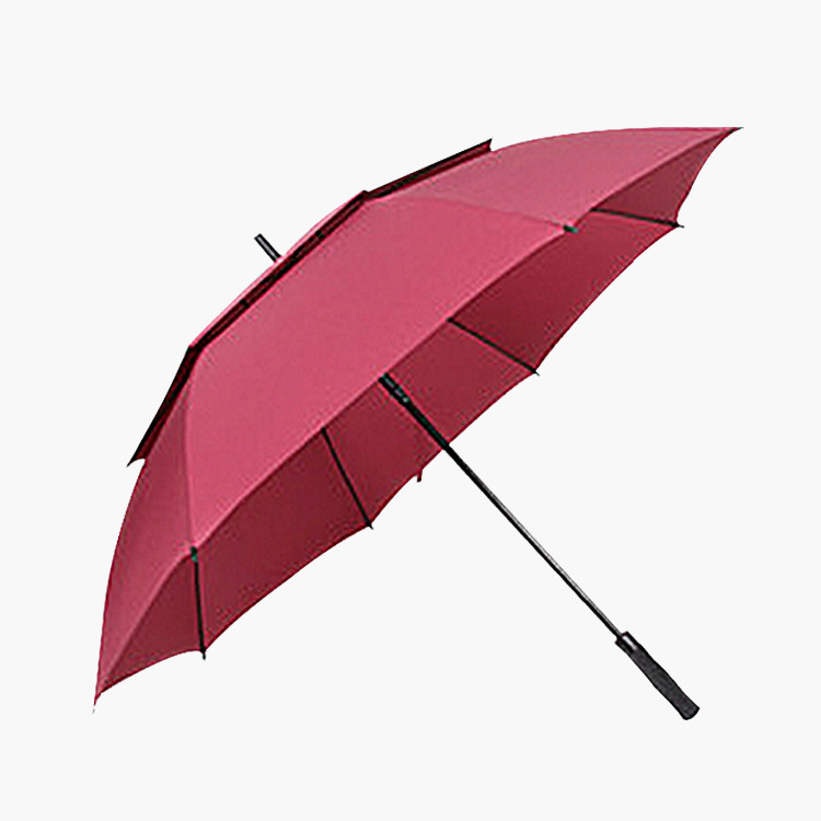 Business Double Layer Golf Umbrella Customizable Solid Color Carry-Style Golf Straight Pole Umbrella Reinforced Gift Umbrella