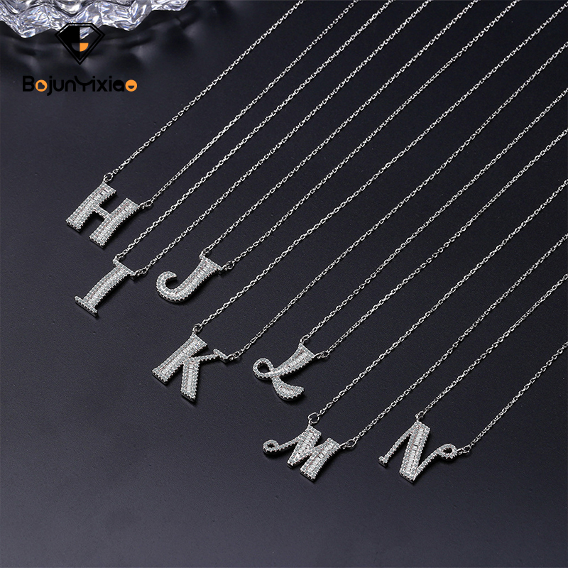 26 English letters Necklace 925 Silver Romantic travel with short collarbone chain Fashion women's Necklace Fashion accessories