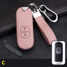 Leather Car Key Cover Case Fit for Mazda 2 3 5 6 2017 CX-4 CX-5 CX-7 CX-9 CX-3 CX 5 Accessories Key Chain Key Fob Cover