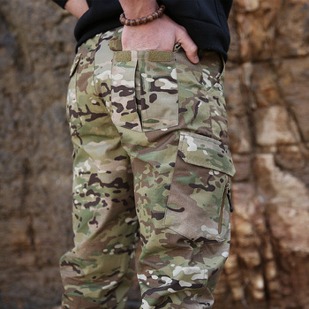 Multi Pocket Camouflage Tactical Army Fans Ankle Cargo Pants Waterproof Wearproof Mens Outdoor Military Sports Climbing Trousers