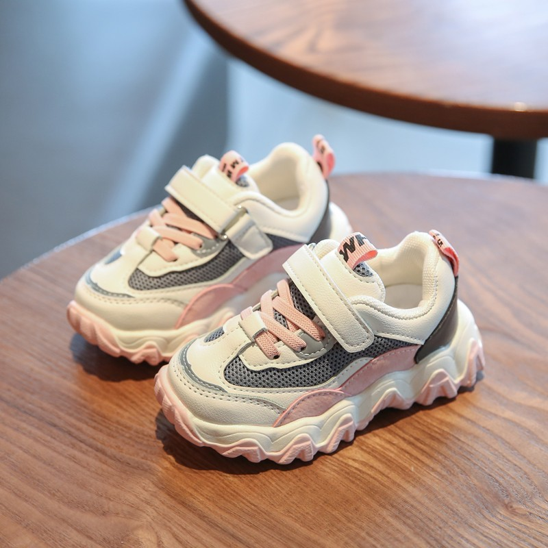2020 New Autumn Kids Shoes Breathable Boys Girls Sport Shoes Children Casual Sneakers Baby Running Shoes Mesh Canvas Shoes