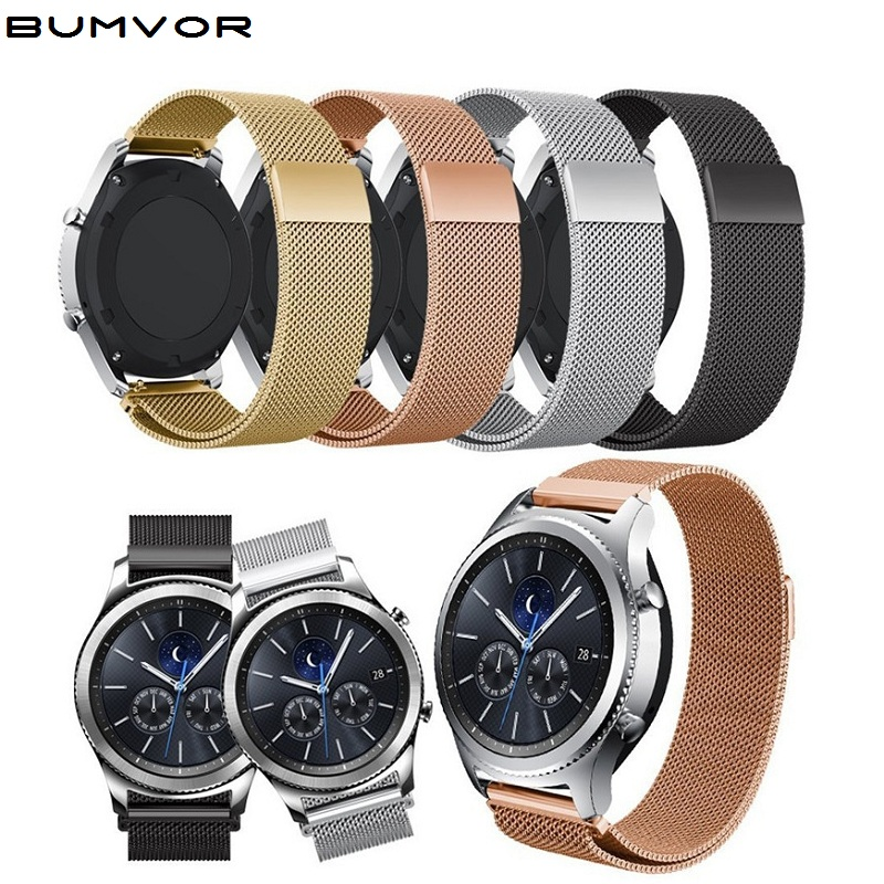 Milanese Loop Watch Band For Samsung Gear S3 Classic/S3 Frontier/galaxy Watch 46mm 42mm Adjustable Stainless Steel 22mm 20mm