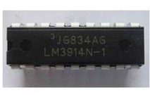 FREE SHIPPING 2 x LM3914N LM3914 3914 LED Bar Dot Display Driver IC