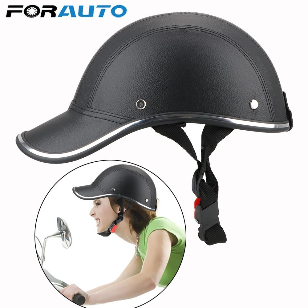 Motorcycle Half Helmet Baseball Cap StyleHalf Face Electric Scooter Anti-UV Safety Hard Hat
