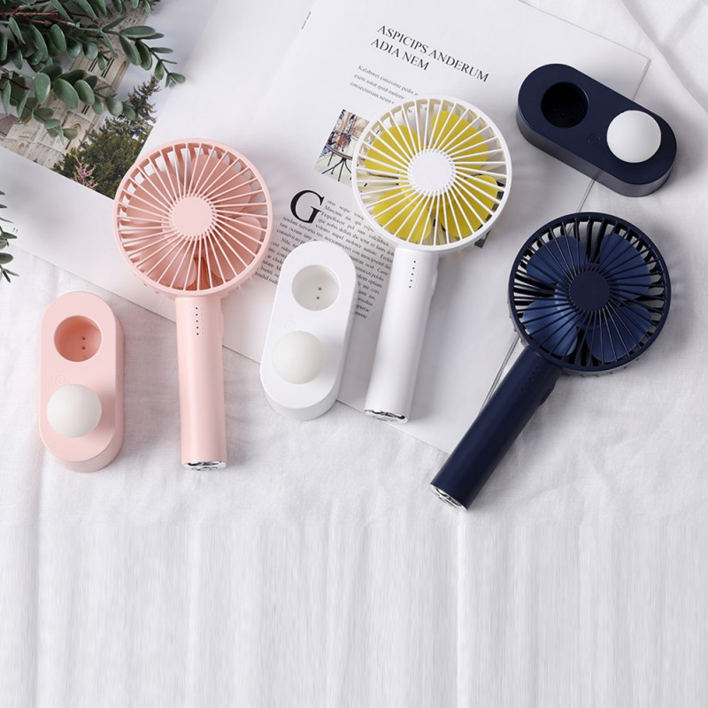 2020 Mushroom Light Portable Pocket Fan 5 Speed Natural Wind USB Handheld Air Cooler Fan Personal Air Conditioner