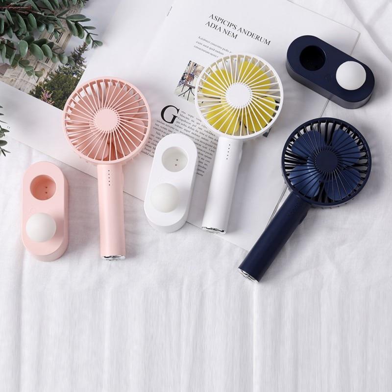 2020 Mushroom Light Portable Pocket Fan 5 Speed Natural Wind USB Handheld Air Cooler Fan Personal Air Conditioner