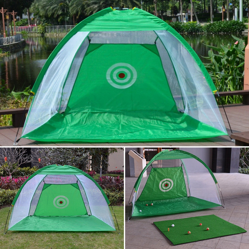 Foldable Aids Indoor Outdoor Sports Golf Cage Swing Trainer Chipping Net Backyard Garden Grassland Golf Hitting Cage Training