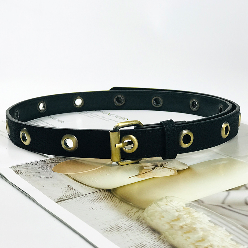 Vintage Belt Ladies Waist Belts For Women Punk Ceinture Pig Skin Leather All Holes Jeans Cinturon Mujer 2020 High Quality Cintos