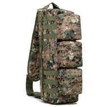 цены Camouflage Corssbody Molle Tactical Military Army Backpack Bag For Hiking Hunting Climbing Camping Bag Backpacks