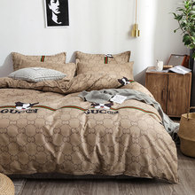 Luxury Dog Bedding Sets Duvet Cover Bed Sheet Pillowcase Bedspread Comforter Bedding Set for Home(China)