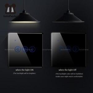 Image 5 - مفتاح يعمل باللمس مع تطبيق واي فاي عن بعد باهتة الضوء القياسي للاتحاد الأوروبي ، مفتاح تشغيل آلي ذكي 220 فولت ، ولاعة تشغيل/إيقاف ، أغمق
