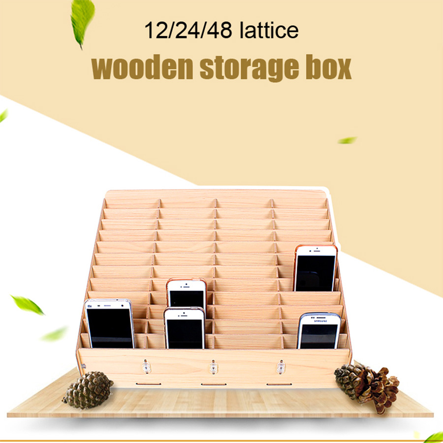 Desktop Mobile Screen Storage Phone Repair Management Storage Box For Office School Wooden Pallets Tools Boxs