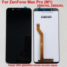 Дисплейный модуль 5,99 дюйма, дигитайзер экрана с сенсорной панелью в сборе и рамка для Asus ZenFone Max Pro (M1) ZB601KL ZB602KL, без битых пикселей, ЖК дисплей