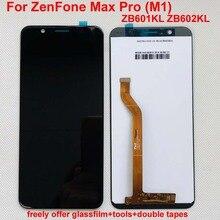"No Dead Pixel 5.99 ""Asus ZenFone Max Pro (M1) 용 LCD 디스플레이 ZB601KL ZB602KL 터치 패널 유리 스크린 디지타이저 어셈블리 + 프레임"