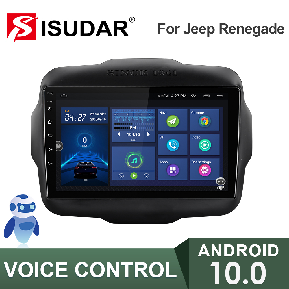 ISUDAR V57S 2 Din Android 10 Car Radio For Jeep Renegade 2014 2015 2016 2017 2018 Car Multimedia Player GPS Stereo System CANBUS