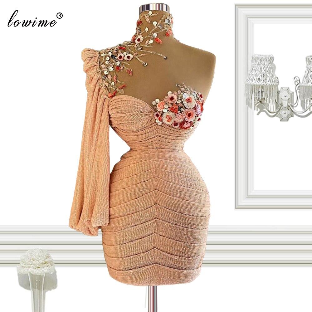 Dubai Blumen Cocktail Kleider Meerjungfrau Kurze Prom Kleider Abend Tragen Frau Pageant Kleider Geburtstag Party Kleider вечерние плать