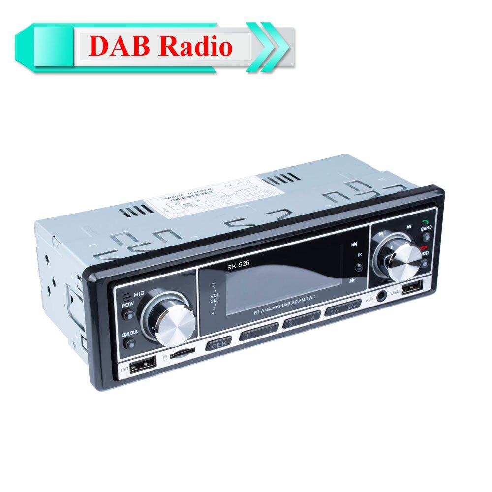 DAB + Autoradio 1 Din coche Radio manos libres MP3/SD/MMC dab + FM USB pantalla LCD Digital de Audio de indash coche estéreo Bluetooth TF tarjeta 5 uds 3,5mm conector de clavija de Metal estéreo de 3 polos adaptador de enchufe y Jack 3,5 con terminales de cable de soldadura enchufe estéreo de 3,5mm