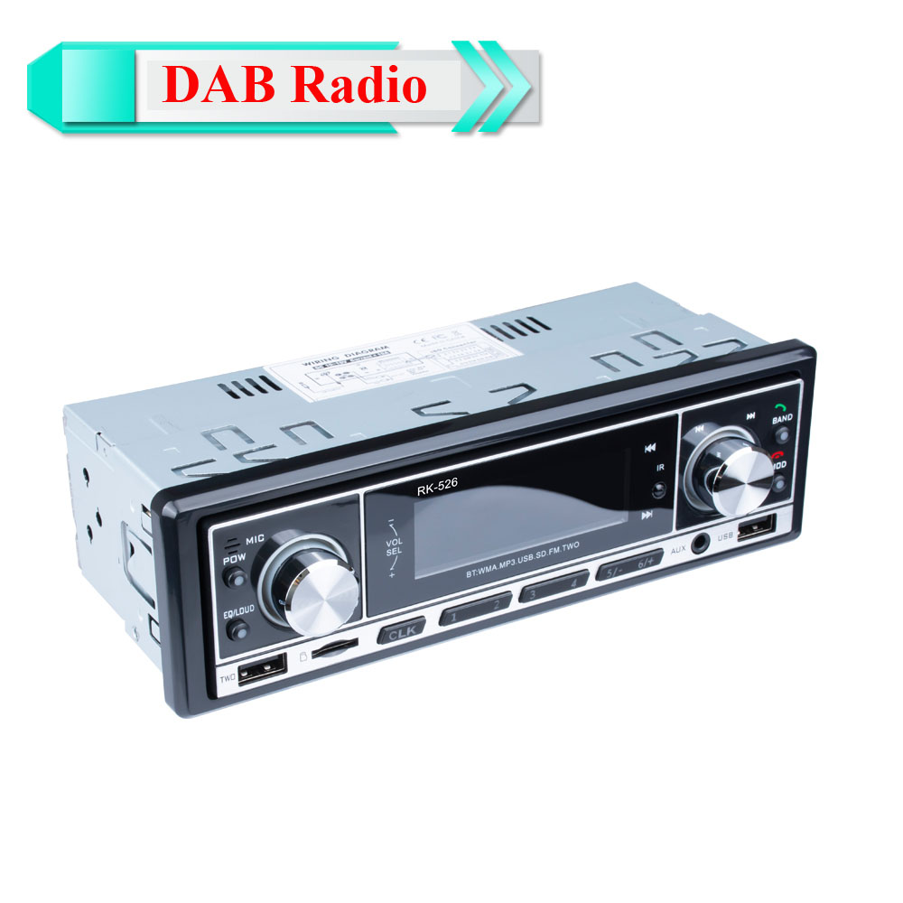 DAB+ Autoradio 1 Din Car Radio Handsfree MP3/SD/MMC dab+FM USB LCD Screen Digital Audio indash Car stereo Bluetooth TF Card image