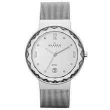 SKAGEN Women Watches Fashion Women's Silvertone Mesh Watch with Large Faceted Bezel Casual Dress montre femme 2019 все цены