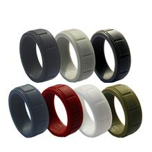 7PCS/LOT Fashion Silicone Ring For Women Men Wedding Rings Sports Environmental Protection Flexible 8mm Rubber Finger