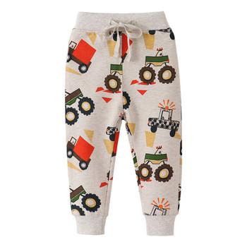 Funnygame chłopcy długie spodnie ciągniki drukowane na jesień wiosna dziecko bawełniane spodnie dresowe gorąca sprzedaży 2020 spodnie dla dzieci spodnie tanie i dobre opinie COTTON spandex Luźne PATTERN Pełnej długości Pasuje prawda na wymiar weź swój normalny rozmiar Elastyczny pas Cartoon