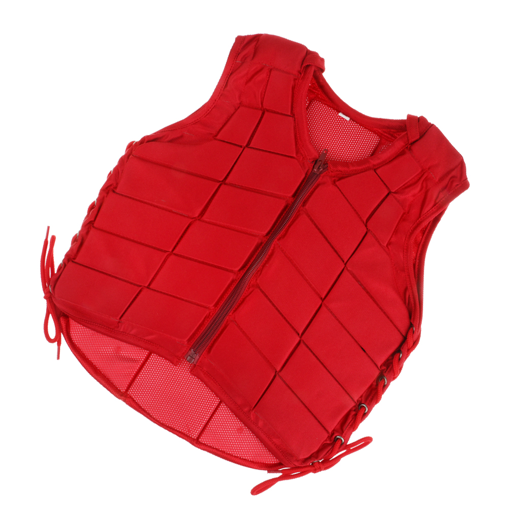 Safety Vest Horse Riding Vest Equestrian Body Protector Kids S Red